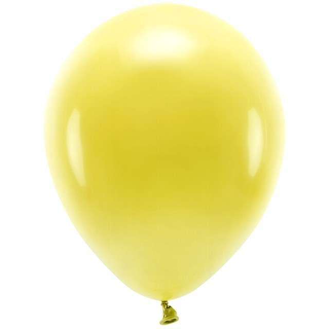 """Balony """"Ekologiczne"""", żółty ciemny, Partydeco, 10"""", 100 szt"""