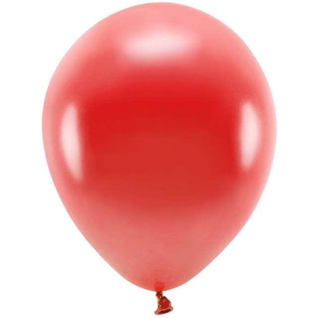 """Balony """"Ekologiczne"""", czerwony metalik, Partydeco, 10"""", 100 szt"""