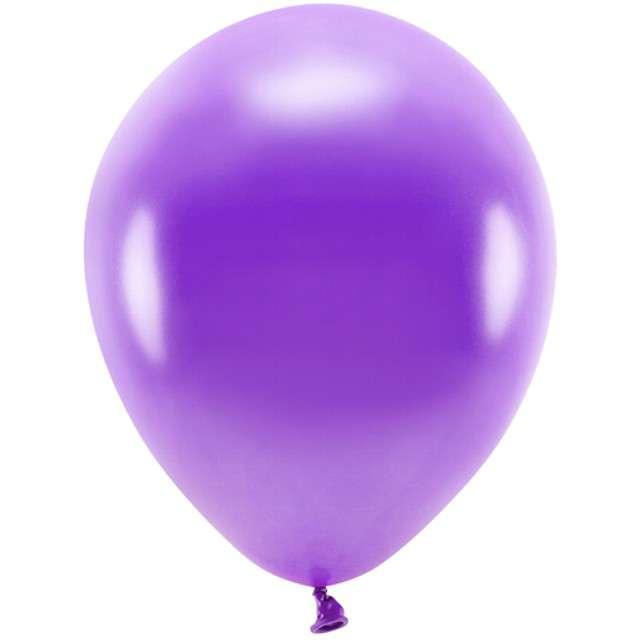 """Balony """"Ekologiczne"""", fioletowy metalik, Partydeco, 10"""", 100 szt"""