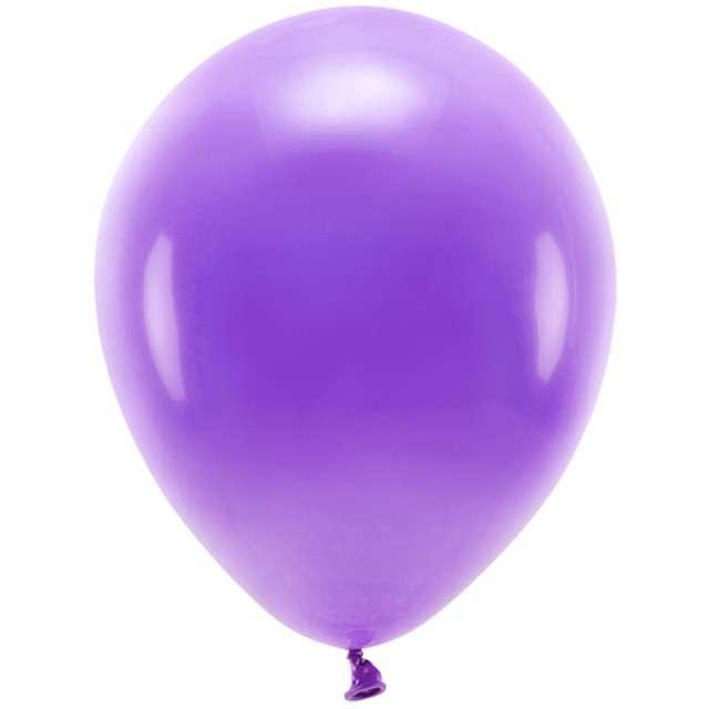 """Balony """"Ekologiczne"""", fioletowe, Partydeco, 10"""", 100 szt"""