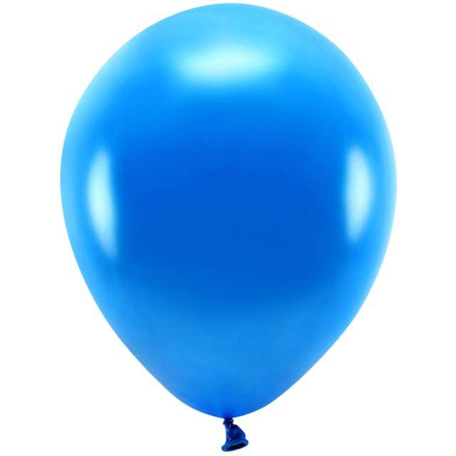 """Balony """"Ekologiczne"""", granatowy metalik, Partydeco, 10"""", 100 szt"""