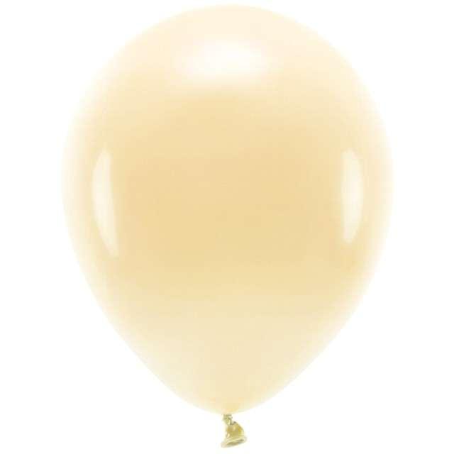 """Balony """"Ekologiczne"""", brzoskwiniowy jasny, Partydeco, 10"""", 100 szt"""