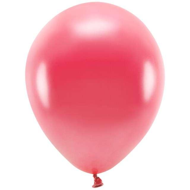"""Balony """"Ekologiczne"""", czerwony jasny metalik, Partydeco, 10"""", 100 szt"""