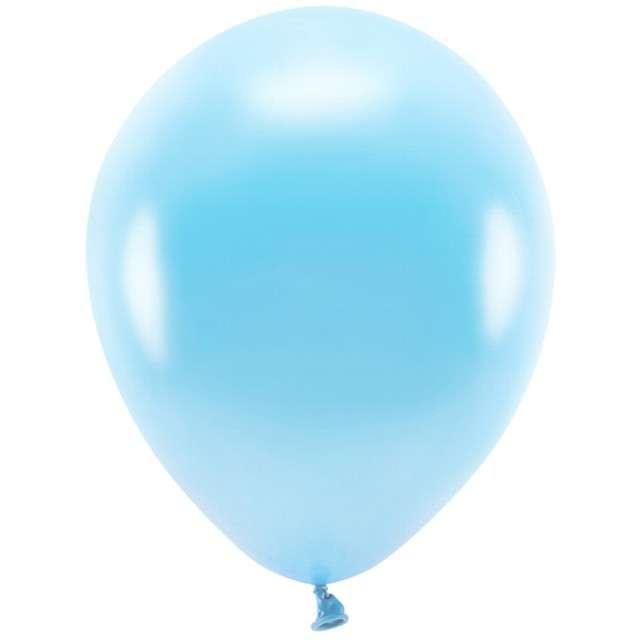 """Balony """"Ekologiczne"""", niebieski jasny metalik, Partydeco, 10"""", 100 szt"""