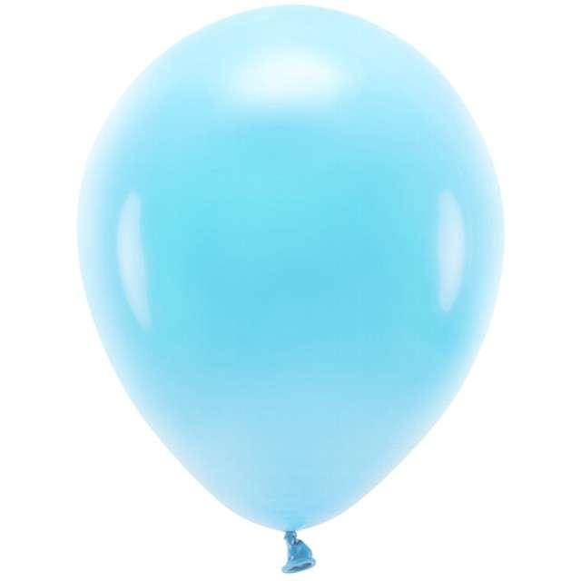 """Balony """"Ekologiczne"""", niebieski jasny, Partydeco, 10"""", 100 szt"""