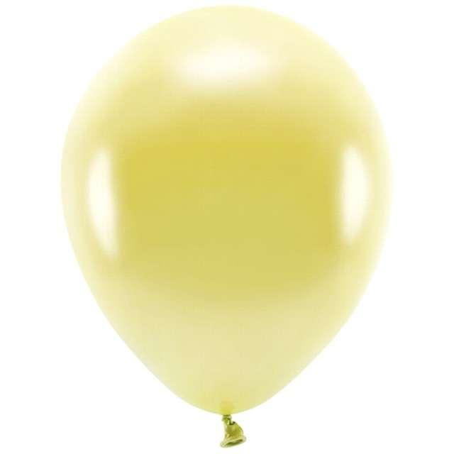 """Balony """"Ekologiczne"""", złoty jasny metalik, Partydeco, 10"""", 100 szt"""