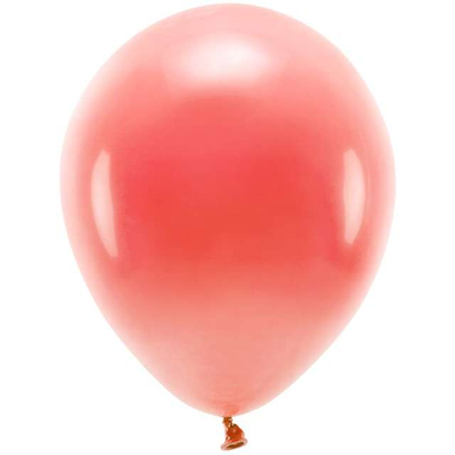 """Balony """"Ekologiczne"""", czerwone, Partydeco, 10"""", 100 szt"""