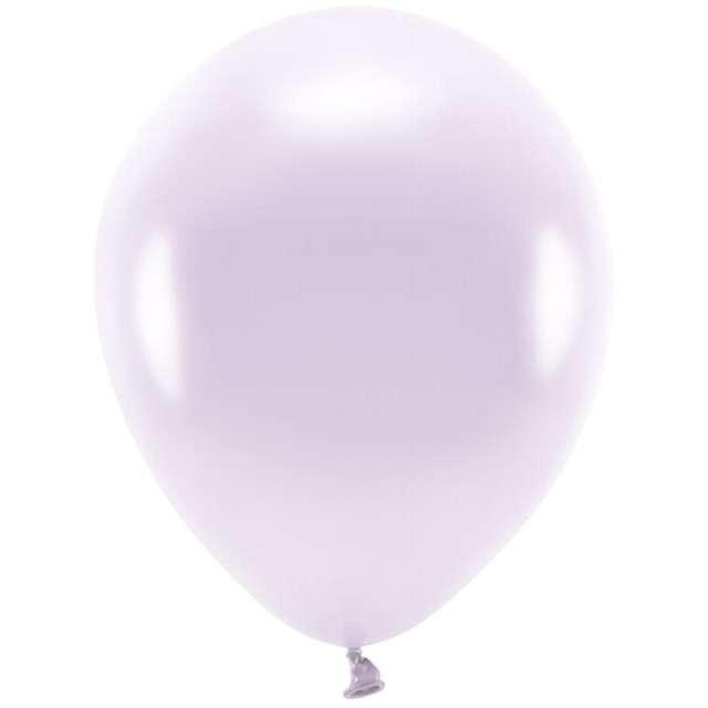 """Balony """"Ekologiczne"""", liliowy metalik, Partydeco, 10"""", 100 szt"""