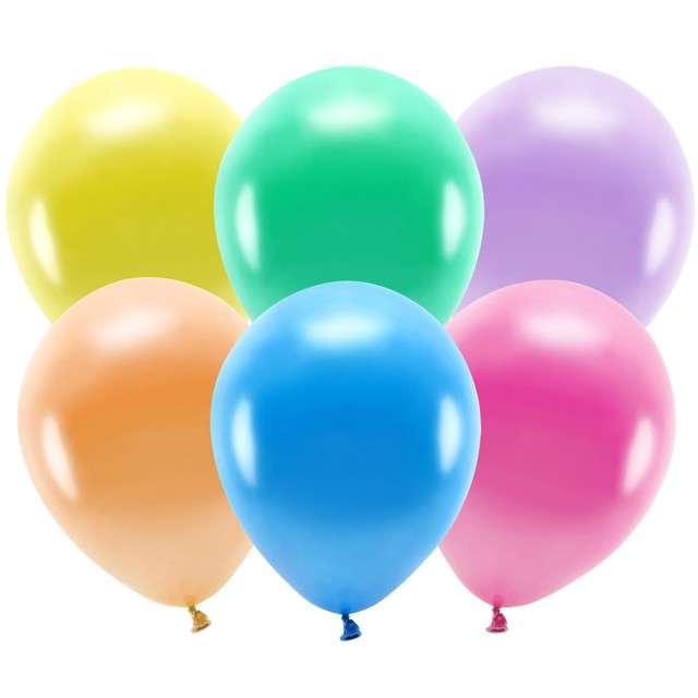 """Balony """"Ekologiczne"""", metalik mix, Partydeco, 10"""", 100 szt"""
