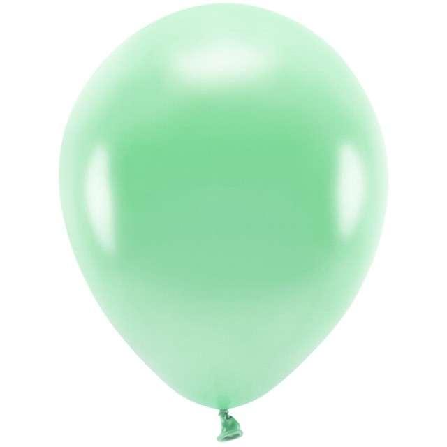 """Balony """"Ekologiczne"""", miętowy metalik, Partydeco, 10"""", 100 szt"""