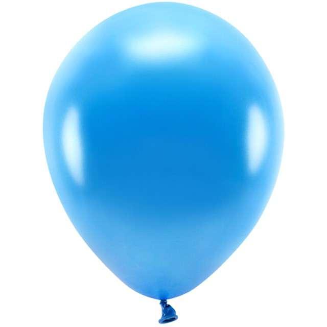 """Balony """"Ekologiczne"""", niebieski metalik, Partydeco, 10"""", 100 szt"""