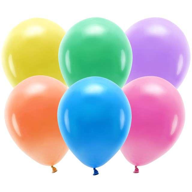 """Balony """"Ekologiczne"""", pastel mix, Partydeco, 10"""", 100 szt"""