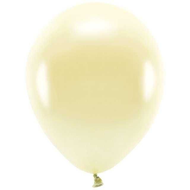 """Balony """"Ekologiczne"""", żółty słomkowy metalik, Partydeco, 10"""", 100 szt"""