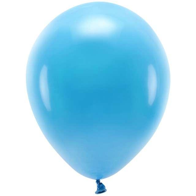 """Balony """"Ekologiczne"""", turkusowe, Partydeco, 10"""", 100 szt"""