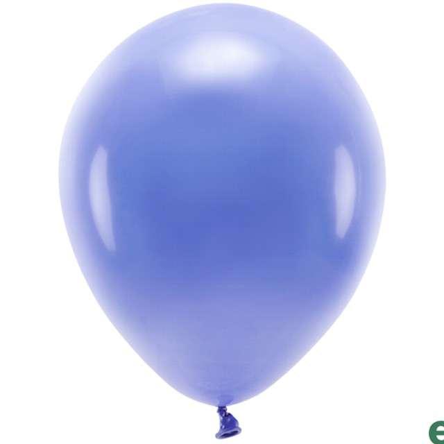 """Balony """"Ekologiczne"""", niebieskie, Partydeco, 10"""", 100 szt"""