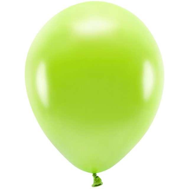 """Balony """"Ekologiczne"""", zielone jabłuszko metalik, Partydeco, 10"""", 100 szt"""