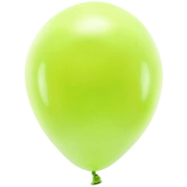 """Balony """"Ekologiczne"""", zielone jabłuszko, Partydeco, 10"""", 100 szt"""