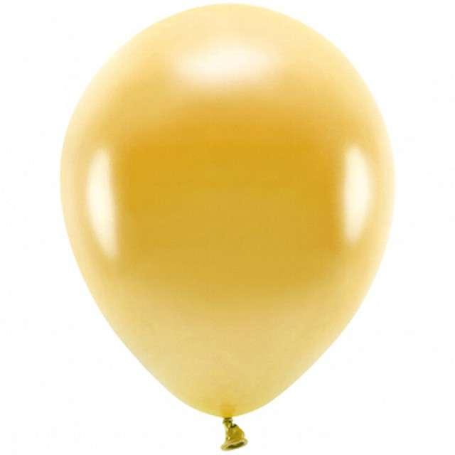 """Balony """"Ekologiczne"""", złoty metalik, Partydeco, 10"""", 100 szt"""