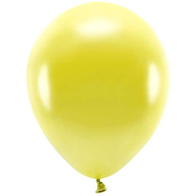 """Balony """"Ekologiczne"""", żółty metalik, Partydeco, 10"""", 100 szt"""