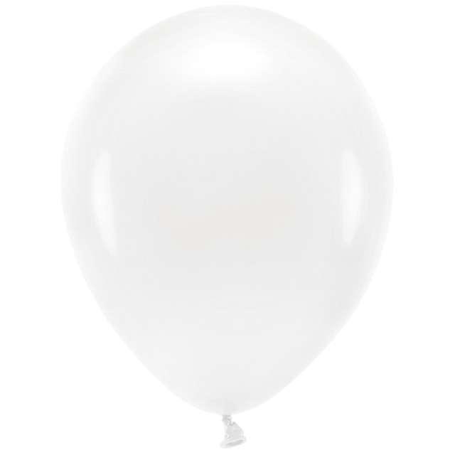 """Balony """"Ekologiczne"""", białe, Partydeco, 12"""", 100 szt"""