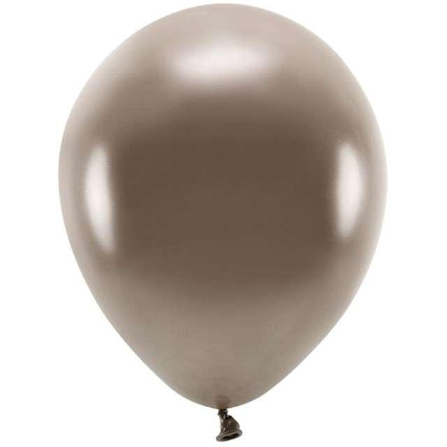 """Balony """"Ekologiczne"""", brązowy metalik, Partydeco, 12"""", 100 szt"""