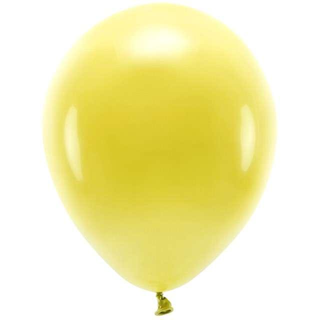 """Balony """"Ekologiczne"""", żółte ciemne, Partydeco, 12"""", 100 szt"""