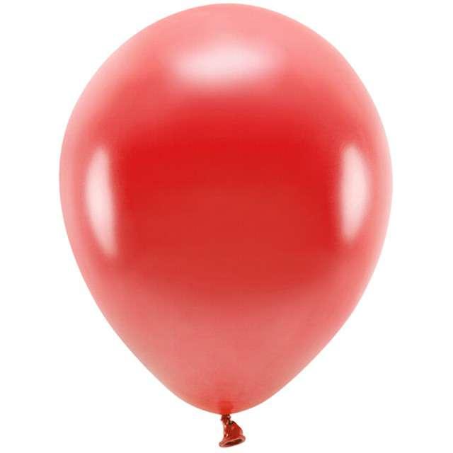 """Balony """"Ekologiczne"""", czerwony metalik, Partydeco, 12"""", 100 szt"""