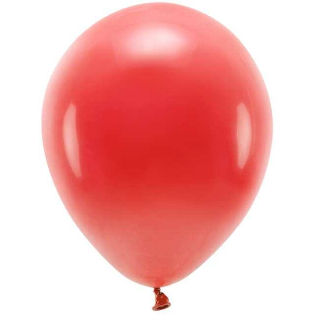 """Balony """"Ekologiczne"""", czerwony, Partydeco, 12"""", 100 szt"""