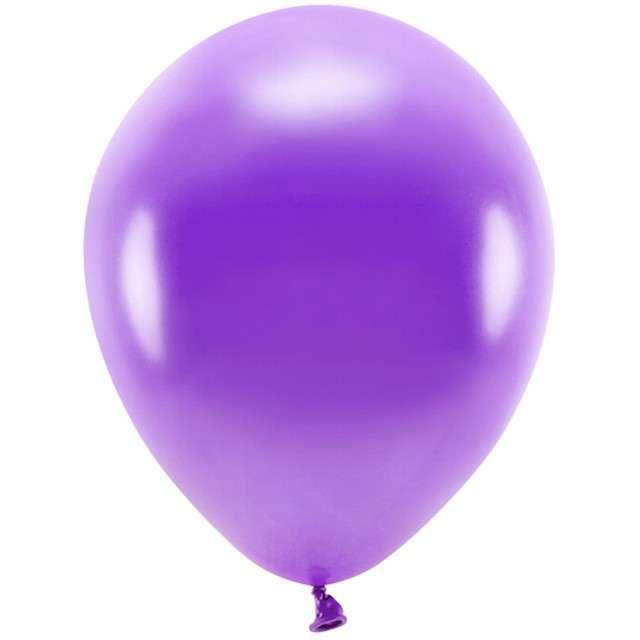 """Balony """"Ekologiczne"""", fioletowy metalik, Partydeco, 12"""", 100 szt"""