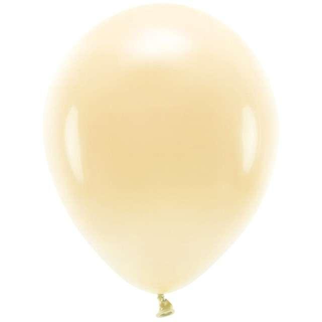 """Balony """"Ekologiczne"""", brzoskwiniowe jasne, Partydeco, 12"""", 100 szt"""
