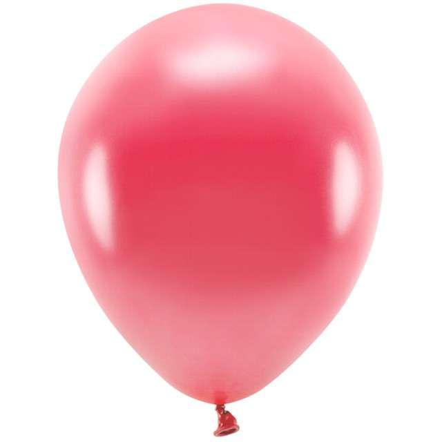 """Balony """"Ekologiczne"""", czerwony jasny metalik, Partydeco, 12"""", 100 szt"""