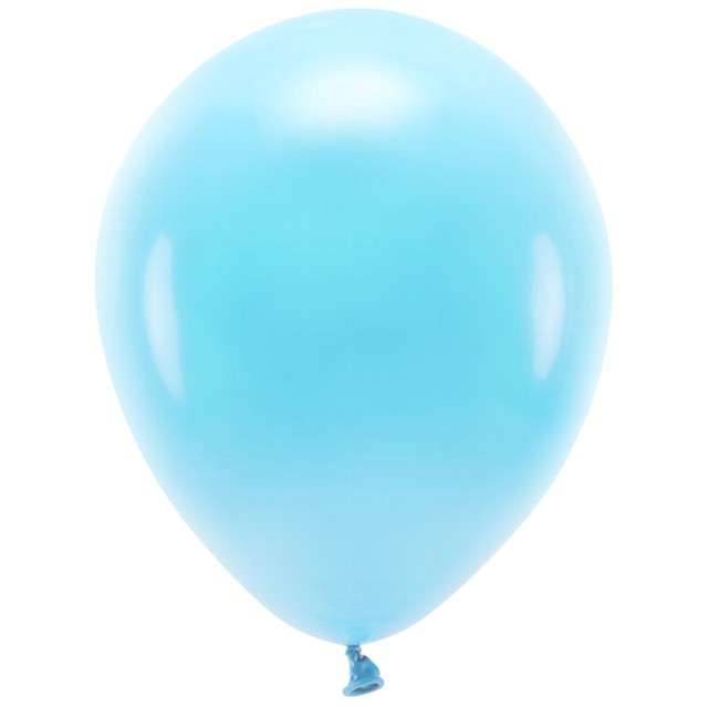 """Balony """"Ekologiczne"""", niebieski jasny, Partydeco, 12"""", 100 szt"""