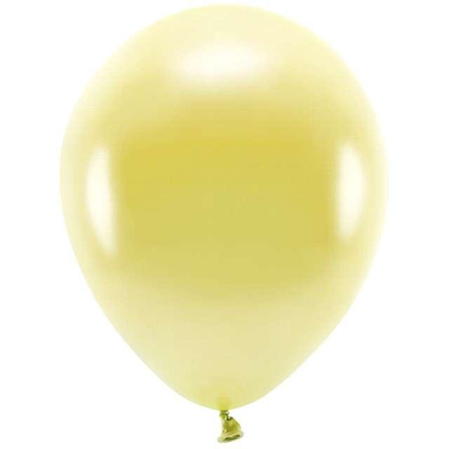 """Balony """"Ekologiczne"""", złoty jasny metalik, Partydeco, 12"""", 100 szt"""