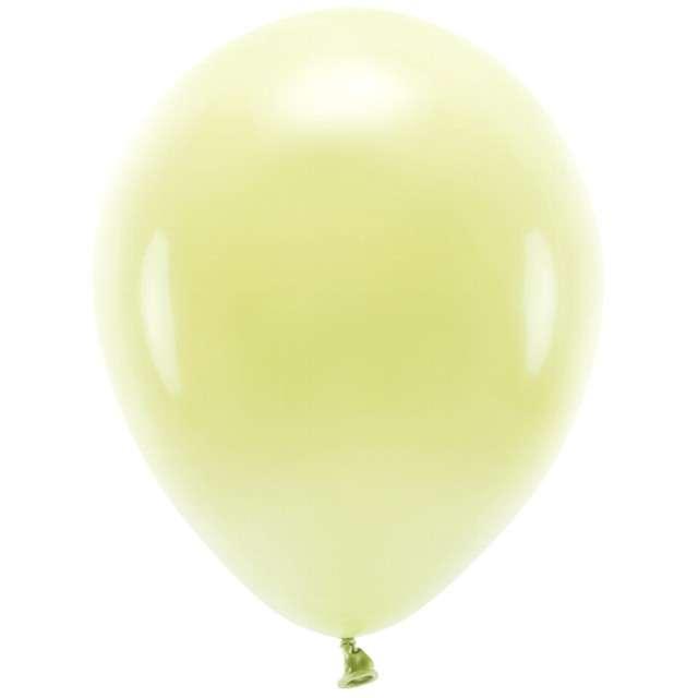 """Balony """"Ekologiczne"""", żółte jasne, Partydeco, 12"""", 100 szt"""