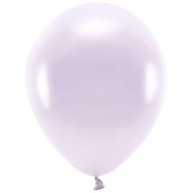 """Balony """"Ekologiczne"""", liliowy metalik, Partydeco, 12"""", 100 szt"""