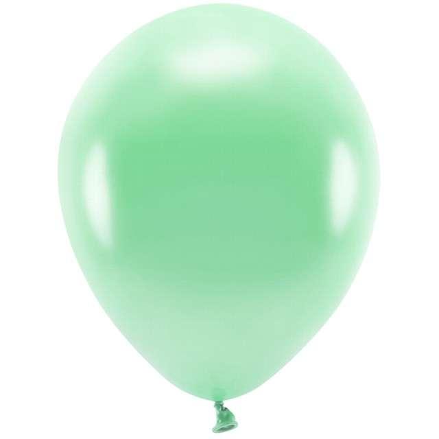 """Balony """"Ekologiczne"""", miętowy metalik, Partydeco, 12"""", 100 szt"""