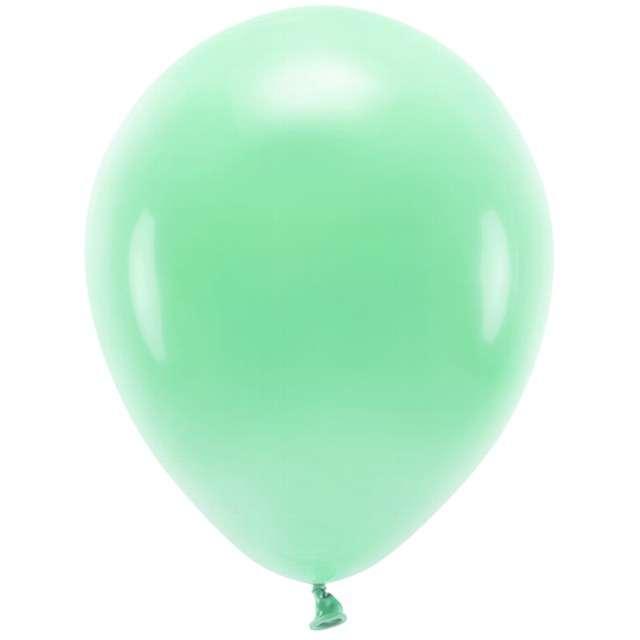 """Balony """"Ekologiczne"""", miętowy, Partydeco, 12"""", 100 szt"""