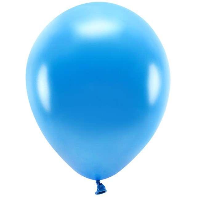 """Balony """"Ekologiczne"""", niebieski metalik, Partydeco, 12"""", 100 szt"""