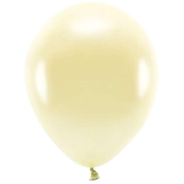 """Balony """"Ekologiczne"""", żółty słomkowy metalik, Partydeco, 12"""", 100 szt"""