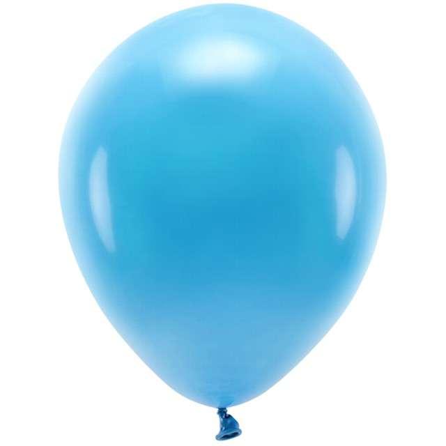 """Balony """"Ekologiczne"""", turkusowe, Partydeco, 12"""", 100 szt"""