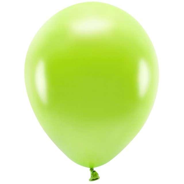 """Balony """"Ekologiczne"""", zielone jabłuszko metalik, Partydeco, 12"""", 100 szt"""