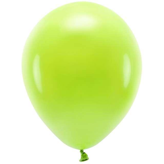 """Balony """"Ekologiczne"""", zielone jabłuszko, Partydeco, 12"""", 100 szt"""