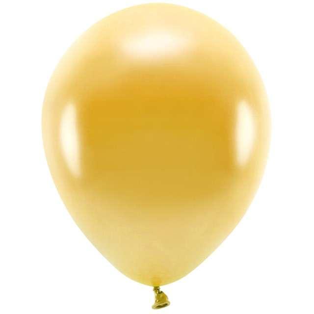 """Balony """"Ekologiczne"""", złoty metalik, Partydeco, 12"""", 100 szt"""