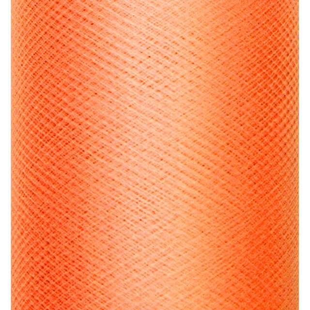 Tiul gładki, pomarańczowy, PartyDeco, 0,3 x 50m