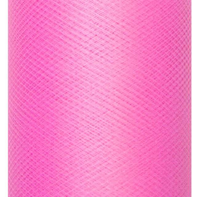 Tiul gładki, różowy ciemny, PartyDeco , 0,3 x 50 m