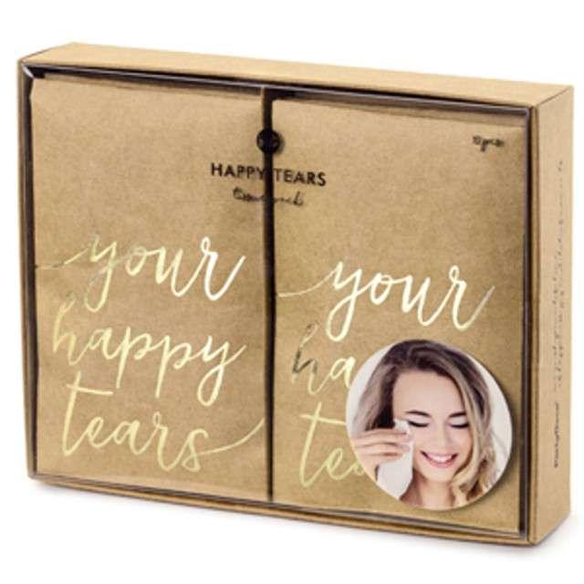 """Chusteczki higieniczne,""""Your happy tears"""", złoty, 30szt"""