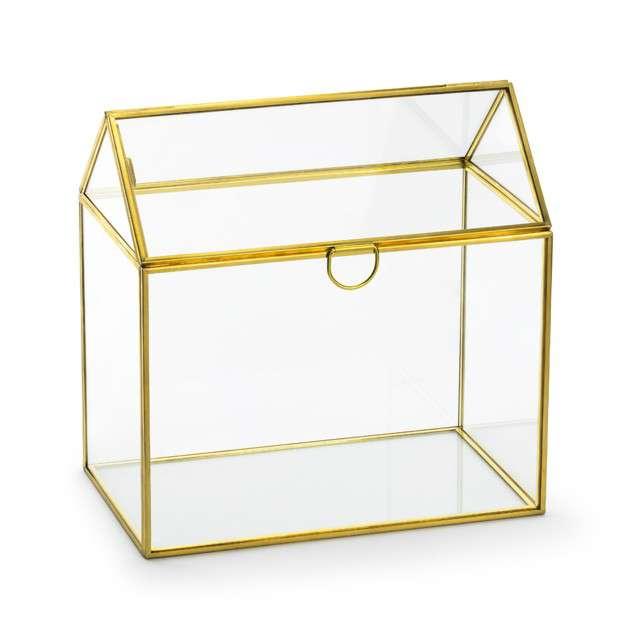 """Pudełko na koperty """"Szklana skrzynka"""", PartyDeco, 13x21x21cm"""