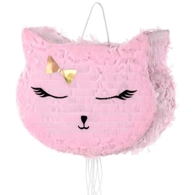 """Piniata """"Kotek"""", różowa, PartyDeco, 1szt"""