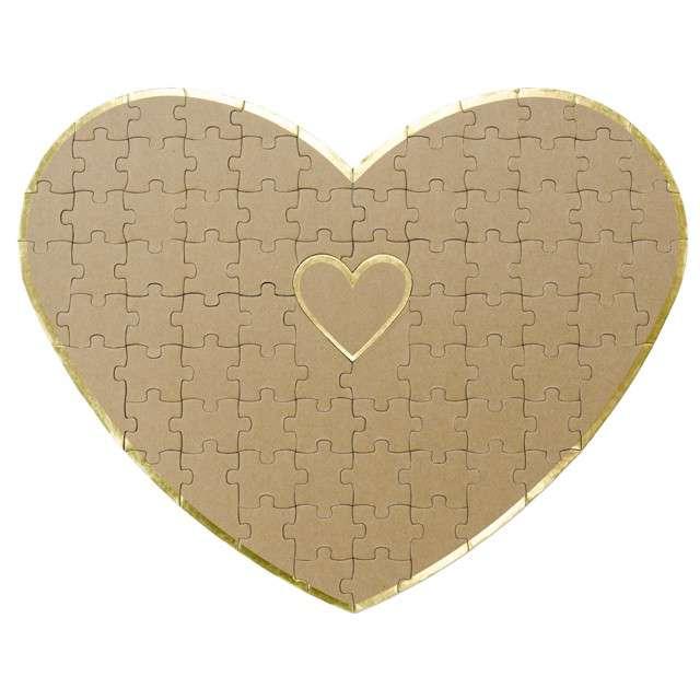 """Księga gości """"Puzzle- serce"""", Partydeco, 45 x 35 cm"""