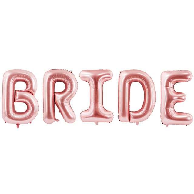 """Balon foliowy """"Bride"""", różowe złoto, PartyDeco, 280x86 cm"""